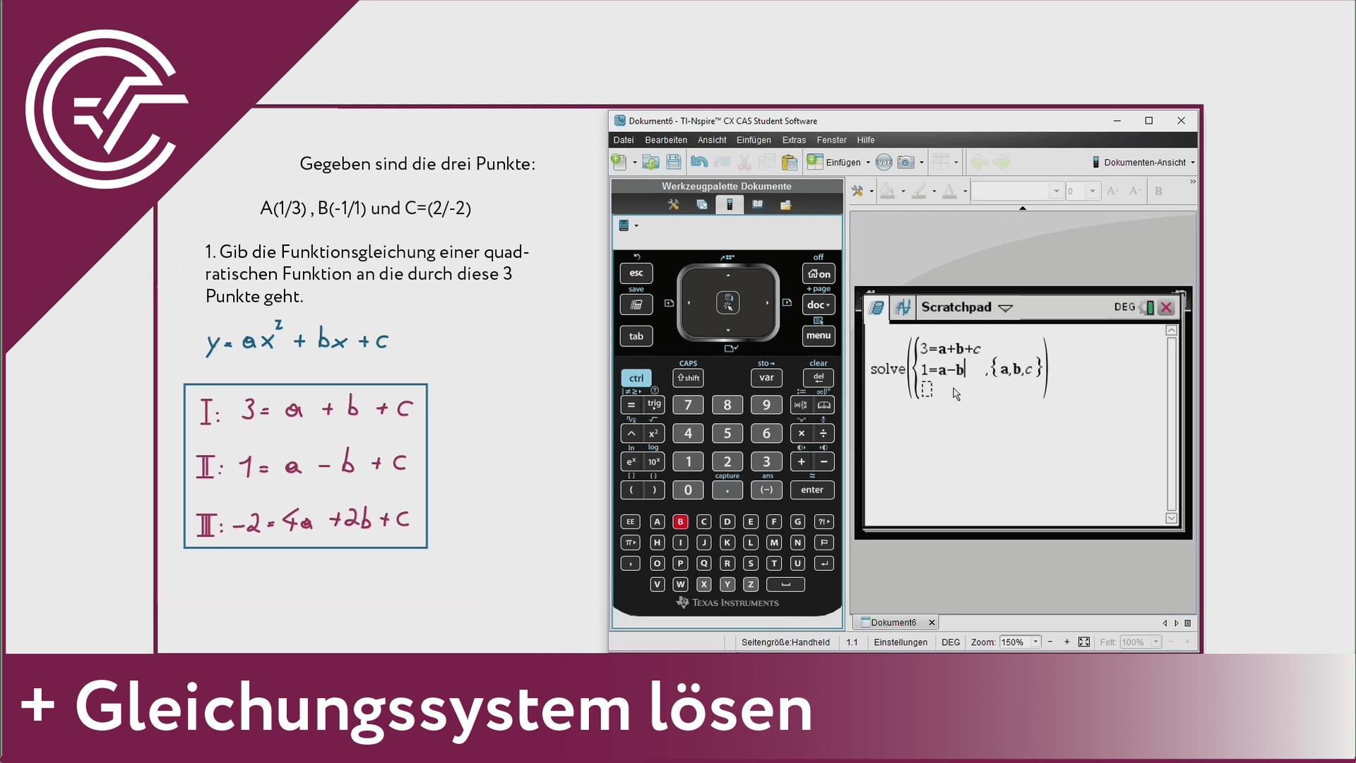 4. Gleichungssysteme lösen [TI-Nspire]