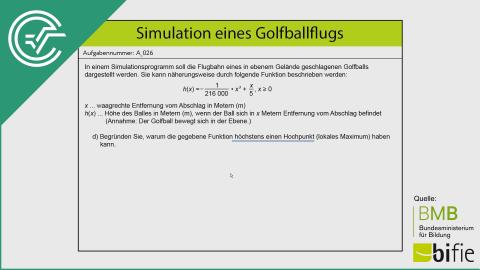 A_026 Simulation des Golfballflugs d [Differentialrechnung]