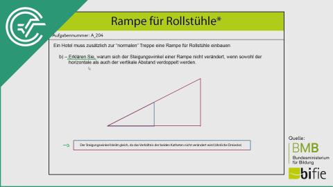 A_204 Rampe für Rollstühle b [Trigonometrie Steigung]
