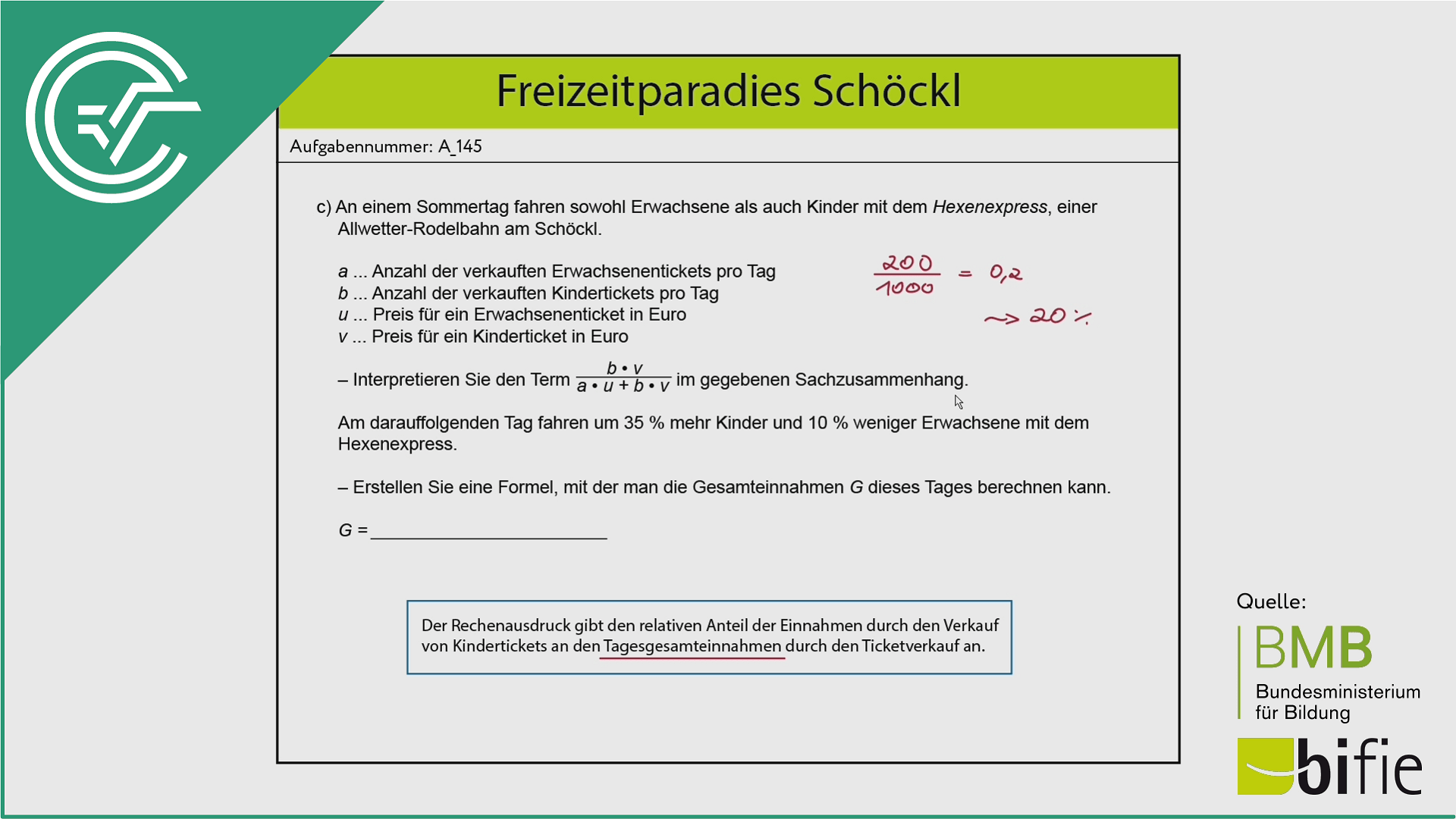 A_145 Freizeitparadies Schöckl c [Gleichung aufstellen]