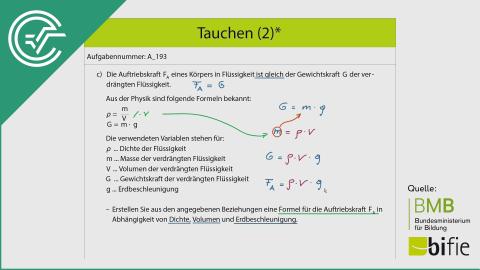 A_193 Tauchen (2)* c [Formel aufstellen]