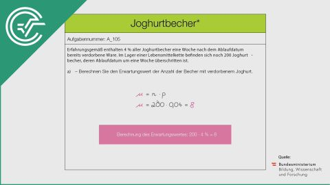 A_105 Joghurtbecher a [Statistik - Erwartungswert]