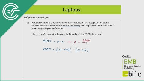 A_033 Laptops a [Quadratische Gleichung]