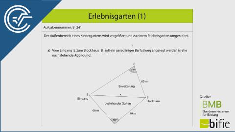 B_241 Erlebnisgarten (1) a [Trigonometrie Cosinussatz]
