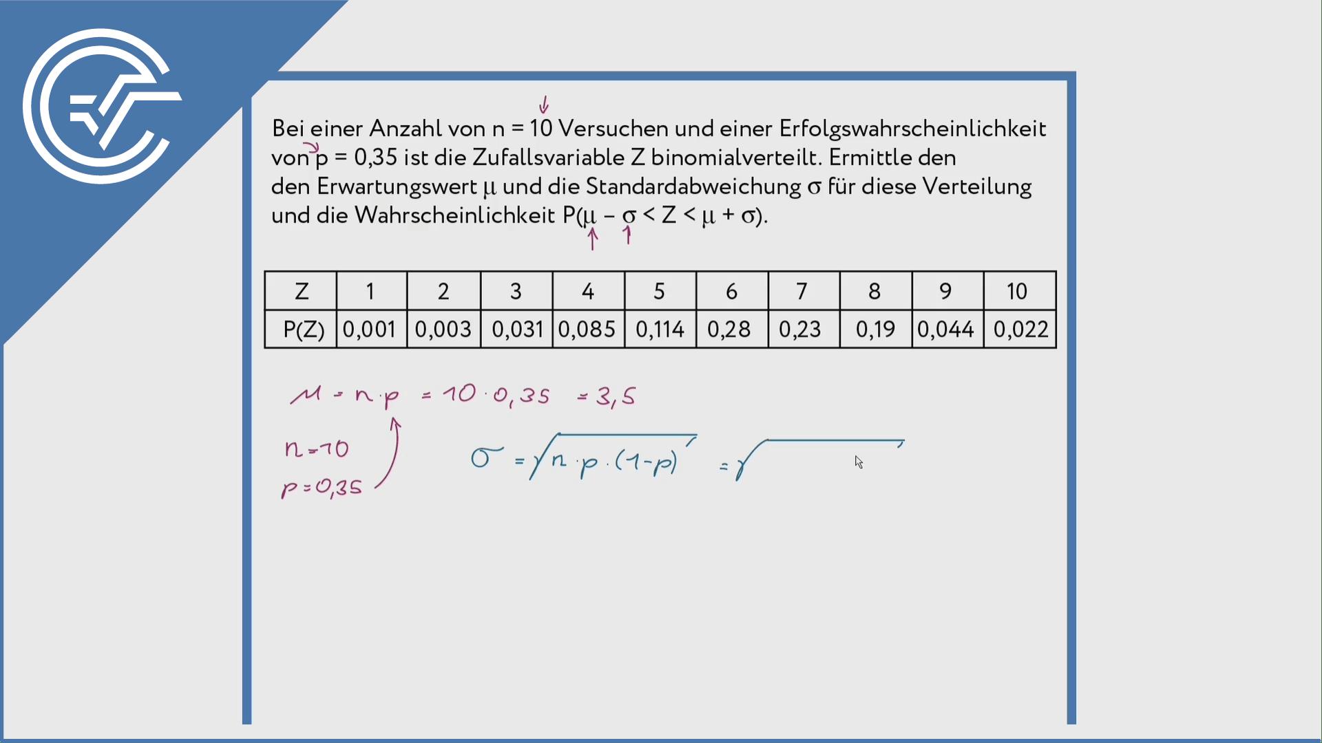 Binomialverteilung anwenden 2