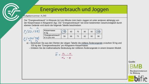 A_045 Energieverbrauch und Joggen a [Differenzenquotient]