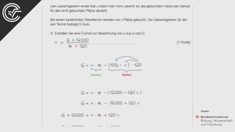A_267 Pauschalreisen c [Formel aufstellen]