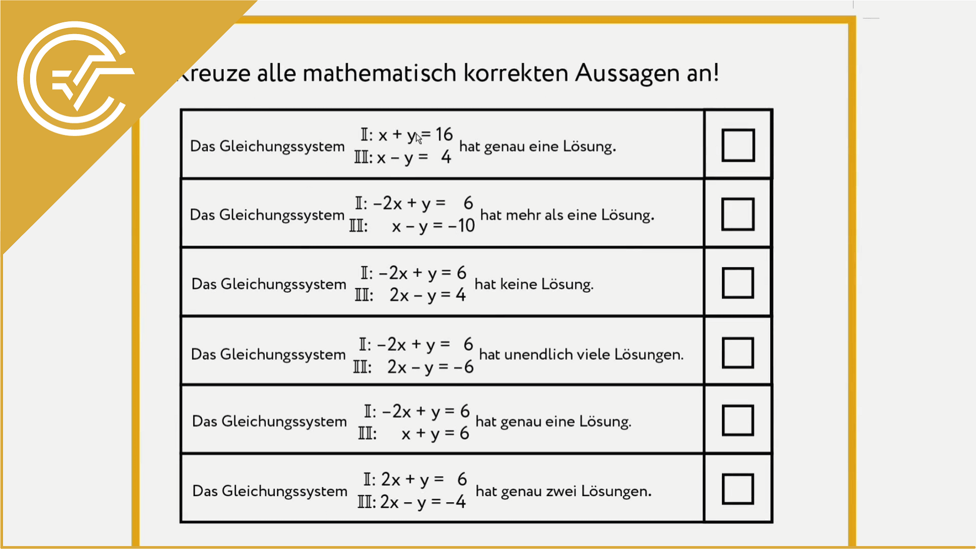 AG 2.5 - Eliminationsverfahren 1