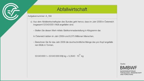 A_184 Abfallwirtschaft c [Gleitkommadarstellung]