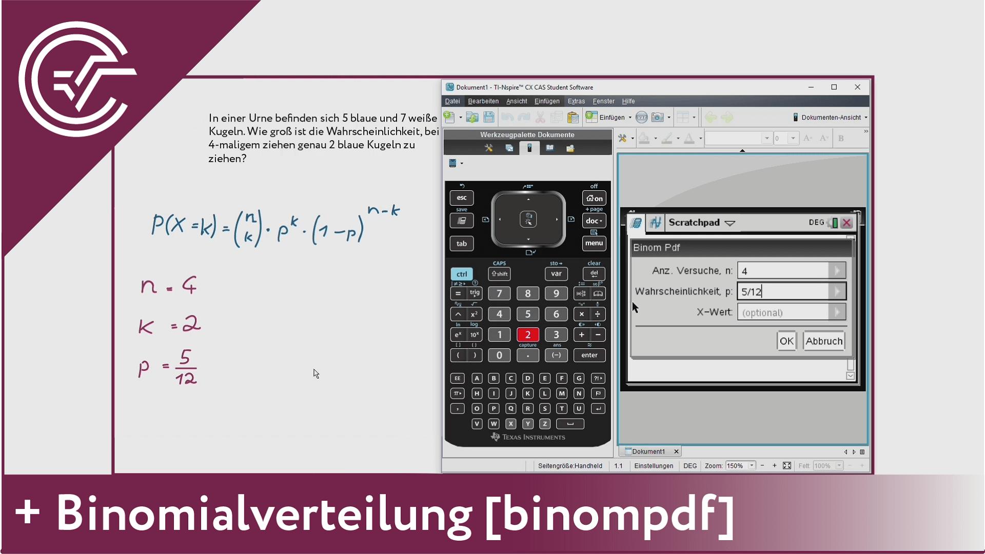 10. Binomialverteilung - binompdf [TI-Nspire]