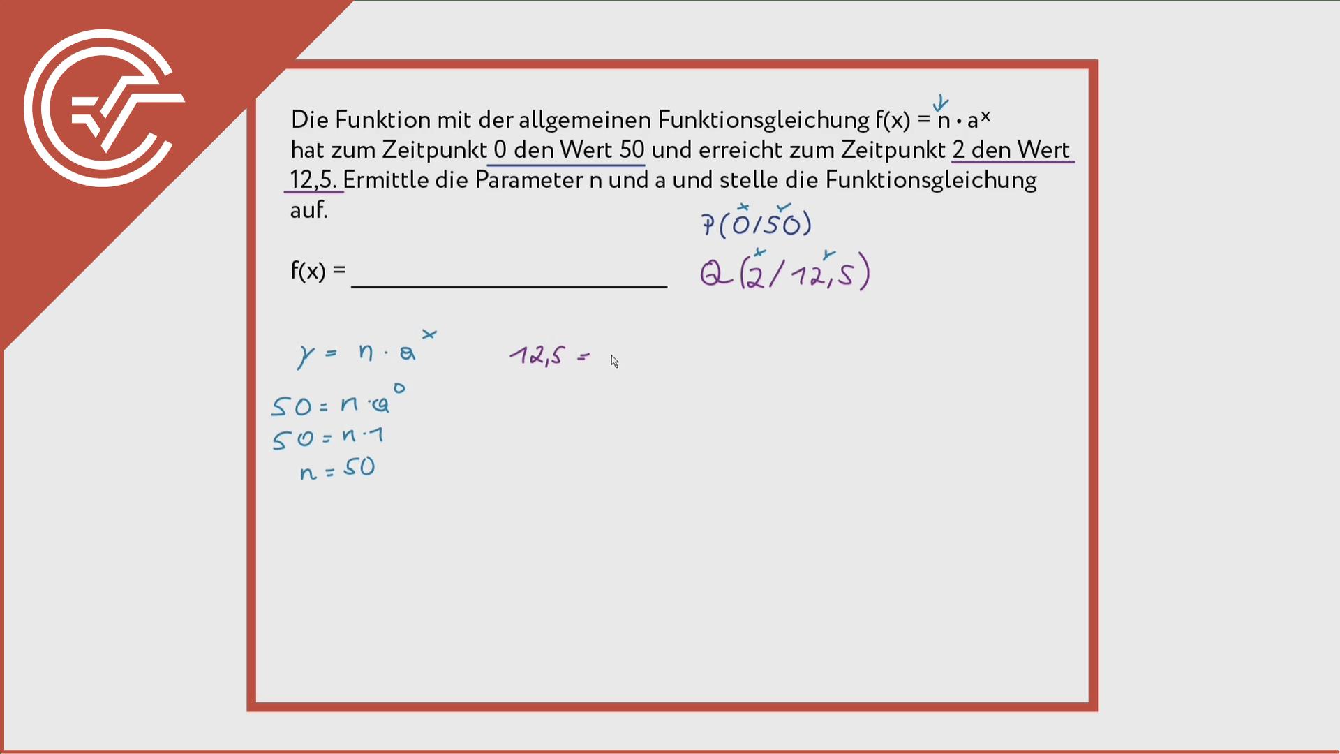 Exponentialfunktionen finden 2