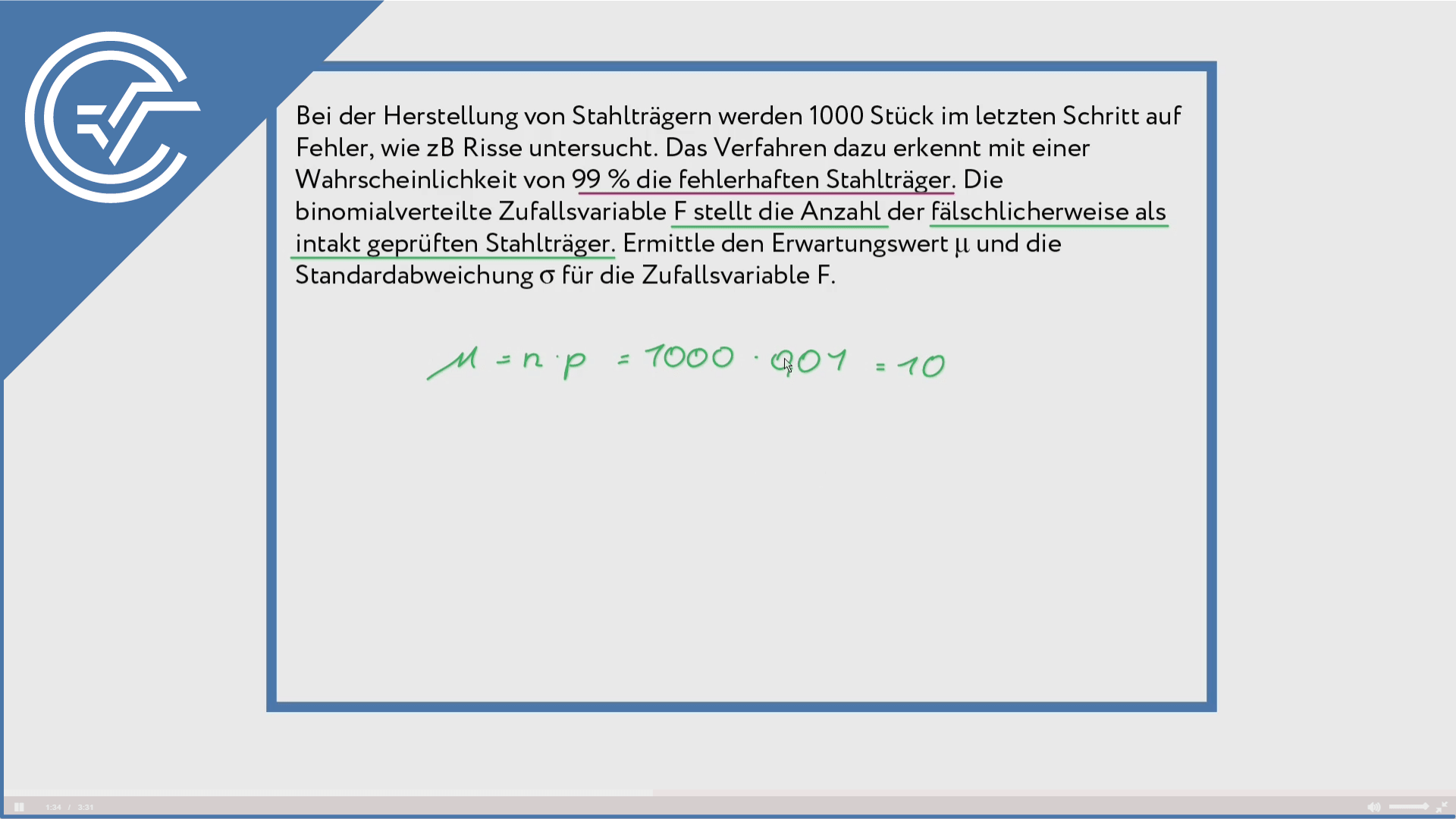 Binomialverteilung anwenden 3