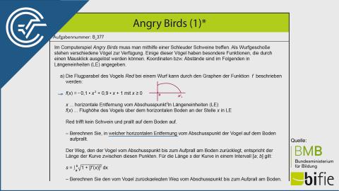 B_377 Angry Birds a [Nullstellen + Integral]