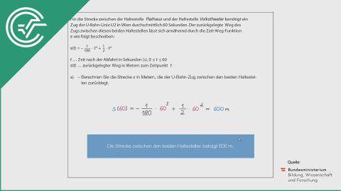 A_103 U-Bahn a [Physik - Weg-Zeit-Funktion]