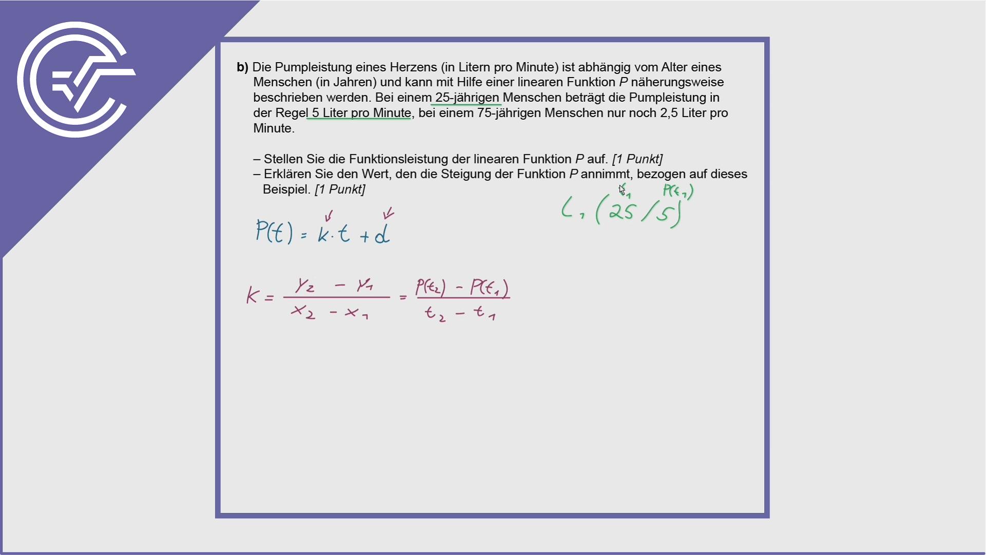 BHS Zentralmatura Aufgabe 4b - Differenzenquotienten