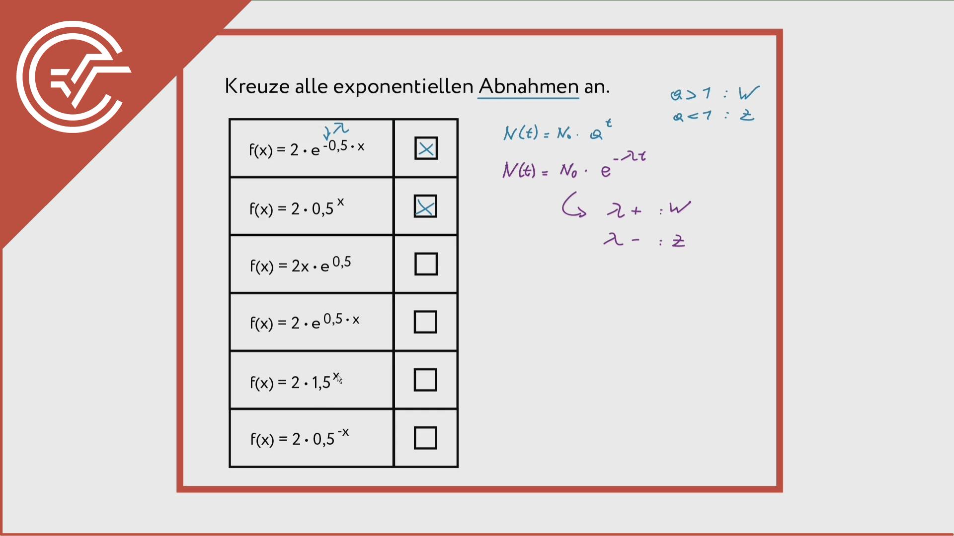 Exponentialfunktionen einschätzen 1