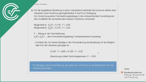 A_169 Wechselkurse b [Lineare Funktionen]