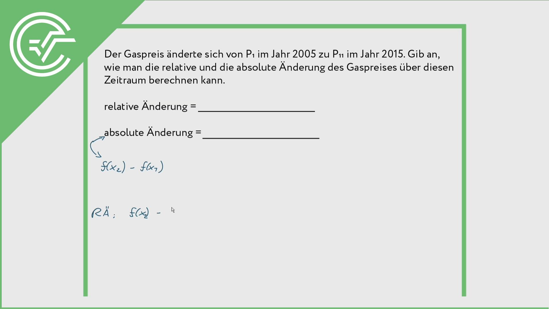 Änderungsraten ermitteln 2