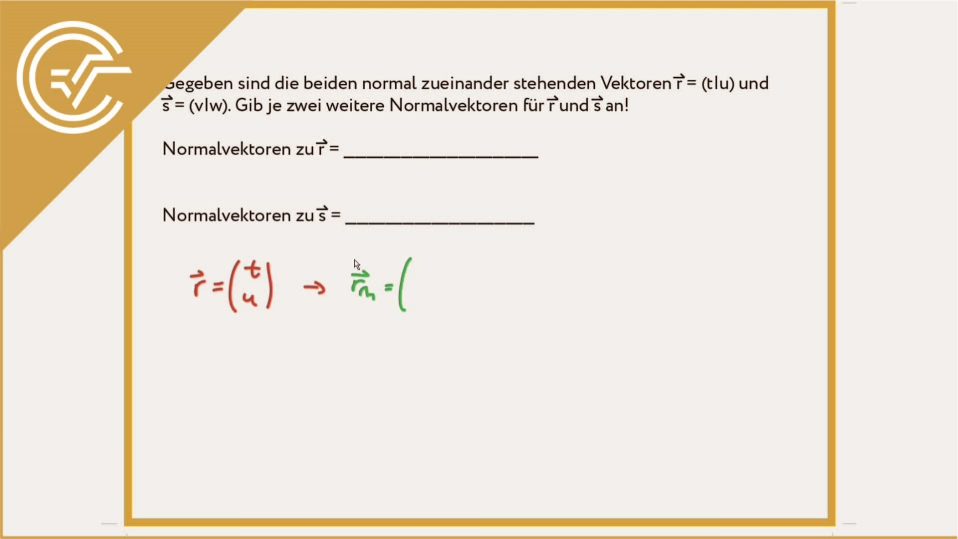 AG 3.5 - Normalvektor 8