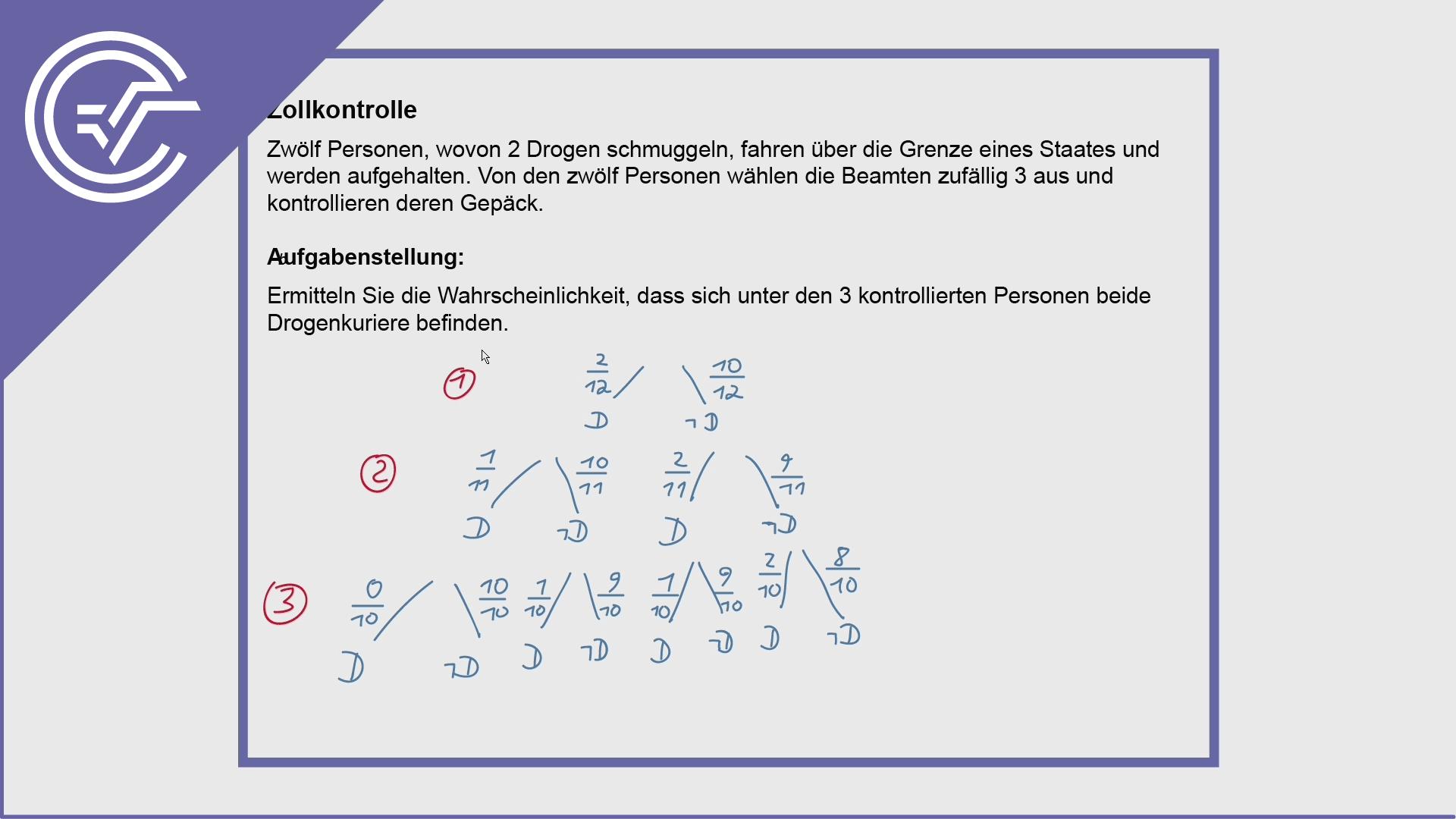 AHS Zentralmatura Aufgabe 21 - Baumdiagramm berechnen