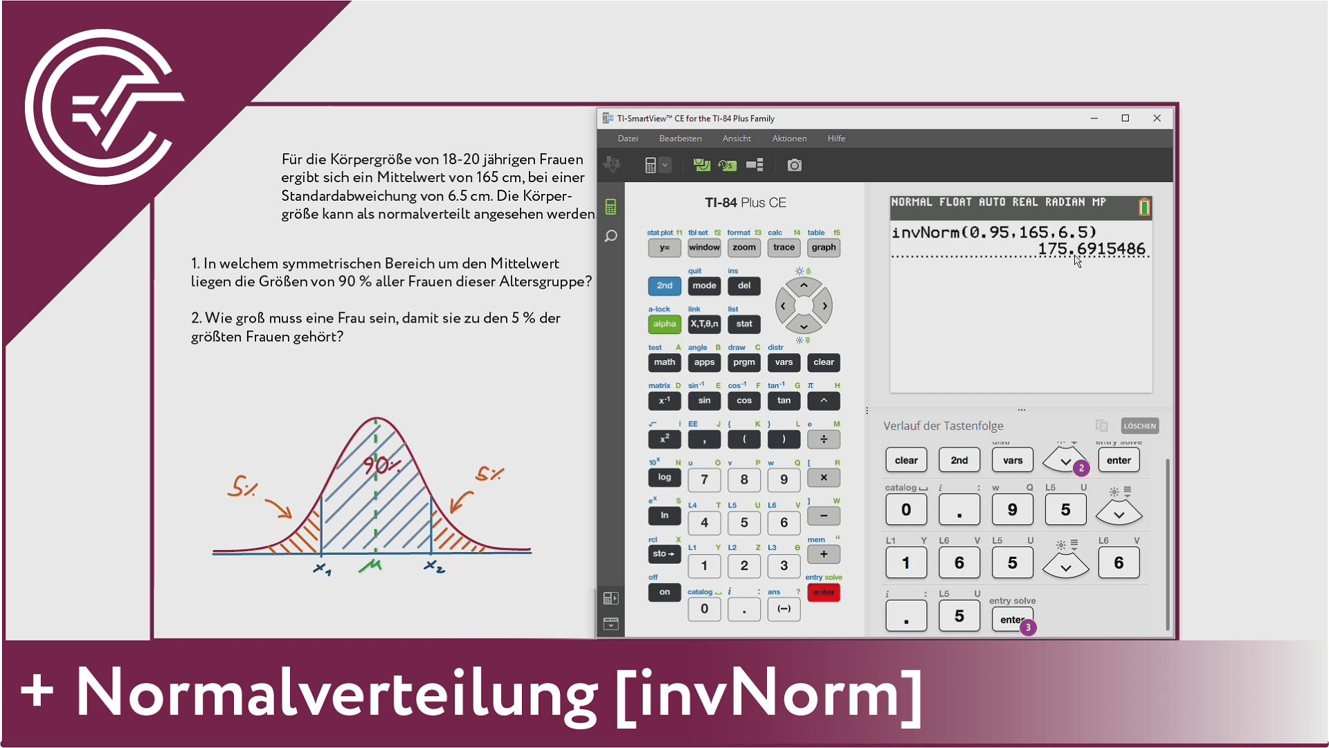 10. Normalverteilung - invNorm [TI-84/83/82]