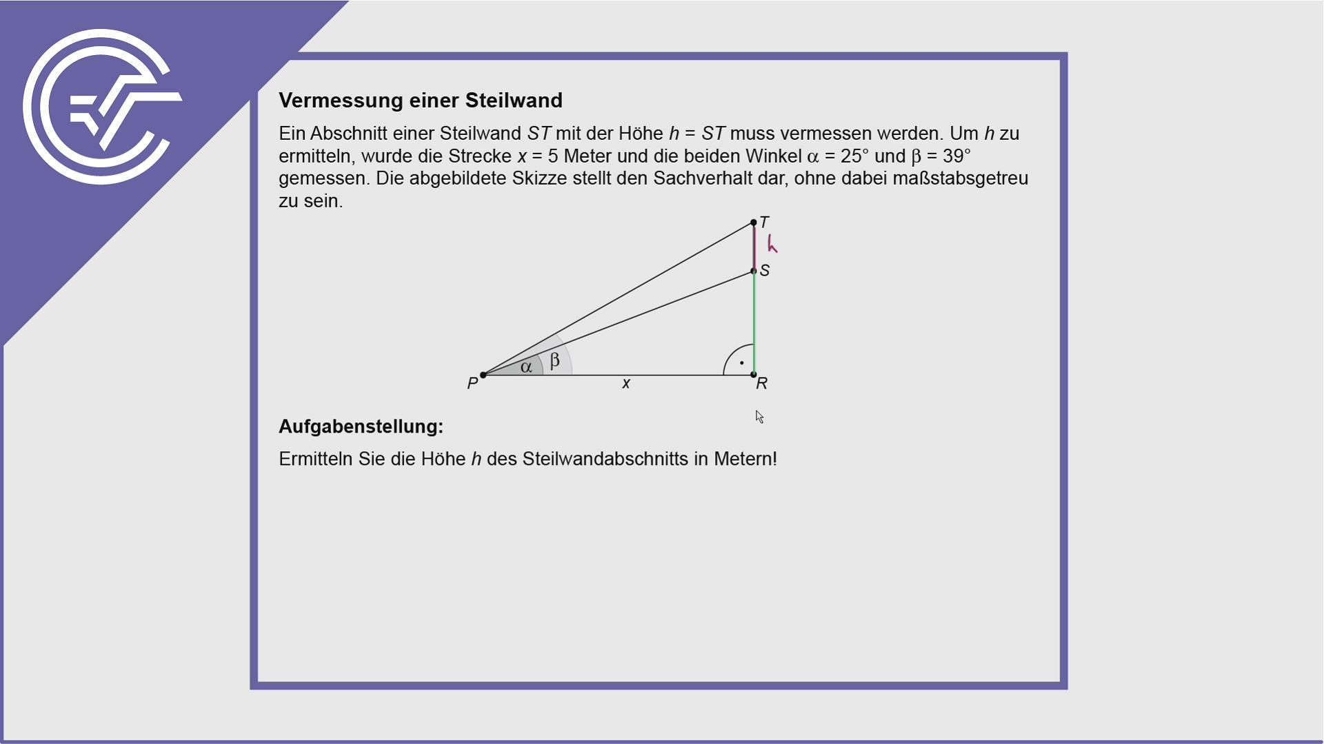 AHS Zentralmatura Aufgabe 6 - Trigonometrie