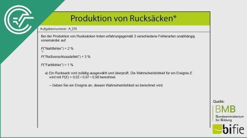 A_210 Produktion von Rucksäcken a [Baumdiagramme]