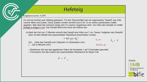 A_009 Hefeteig a [Exponentialfunktionen]