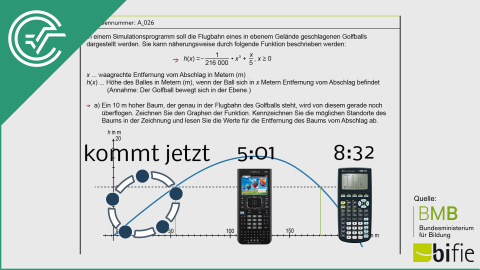 A_026 Simulation des Golfballflugs a [Funktionen verstehen]