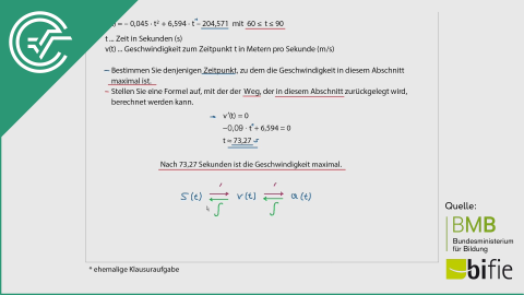 A_153 Die Streif c [Hochpunkt + Integralrechnung]
