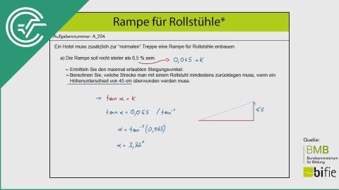 A_204 Rampe für Rollstühle a [Trigonometrie Steigung]