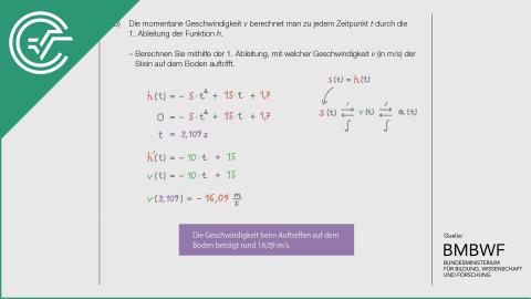 A_004 Steinschleuder b [Weg-Zeit Physik Beispiel]