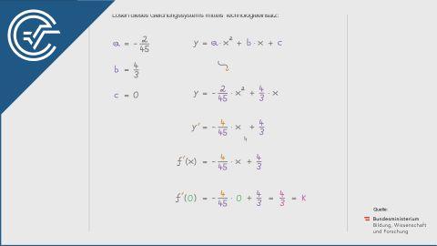 B_439 Flugbahn und Bewegungsgleichung (2) a [Quadratische Funktionen - Gleichungssysteme]