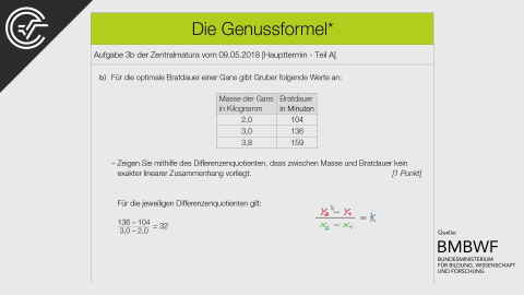 A_263 Die Genussformel b [Differenzenquotient]
