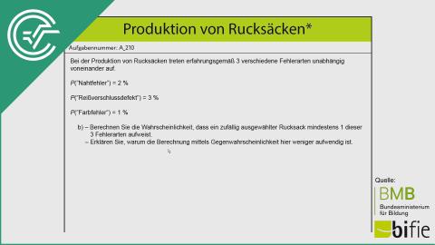 A_210 Produktion von Rucksäcken b [Baumdiagramme]