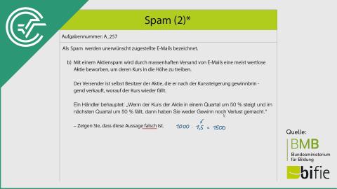 A_257 Spam (2) b [Exponentialfunktionen]