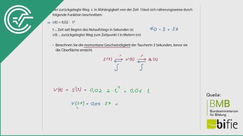 A_193 Tauchen (2)* b [Weg-Zeit Beispiel]