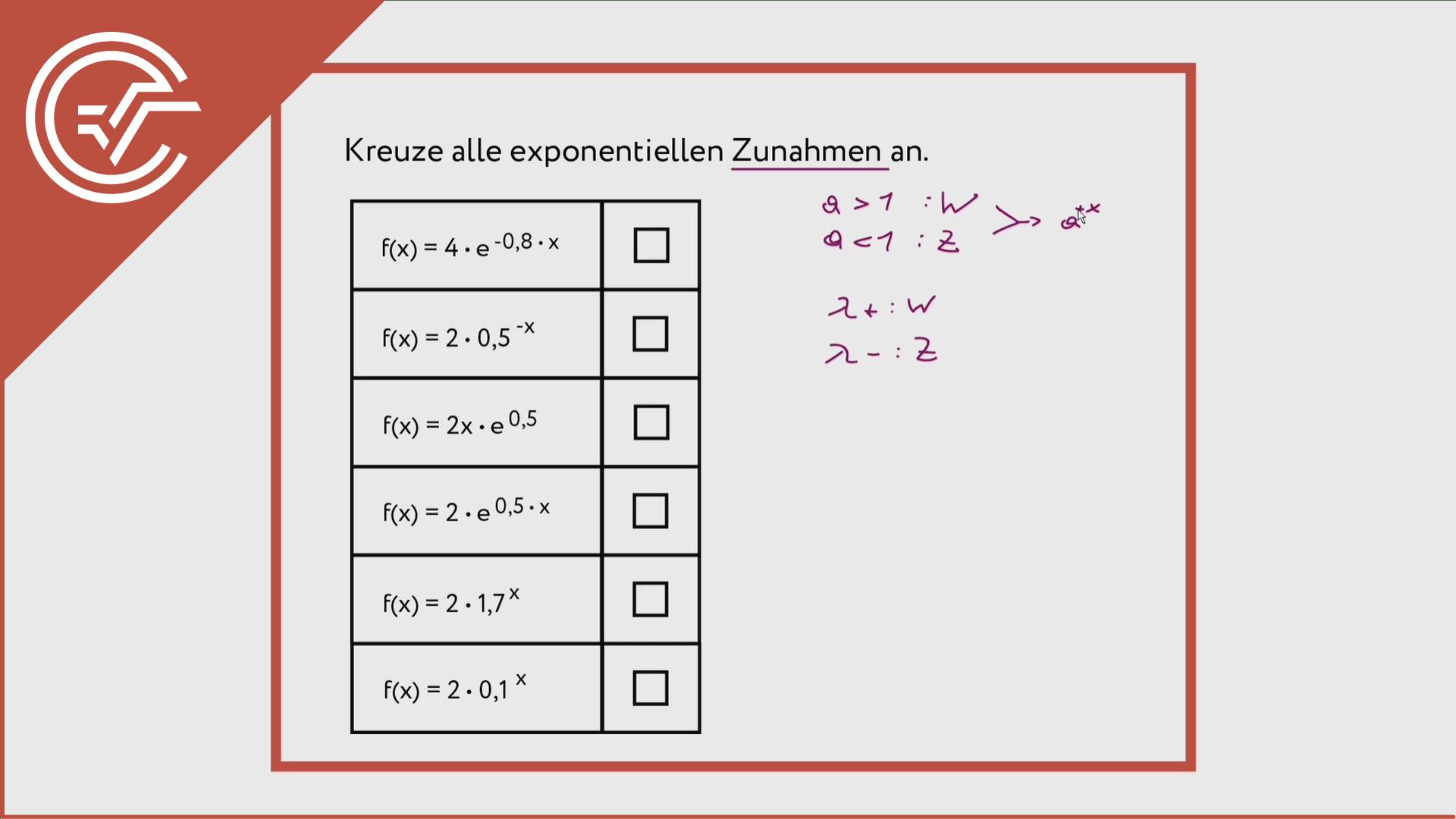 Exponentialfunktionen einschätzen 2