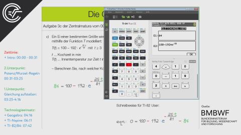 Die Genussformel 3c [Exponentialfunktionen + Potenzregel]