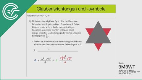 A_187 Glaubensrichtungen und -symbole b [Formel aufstellen]