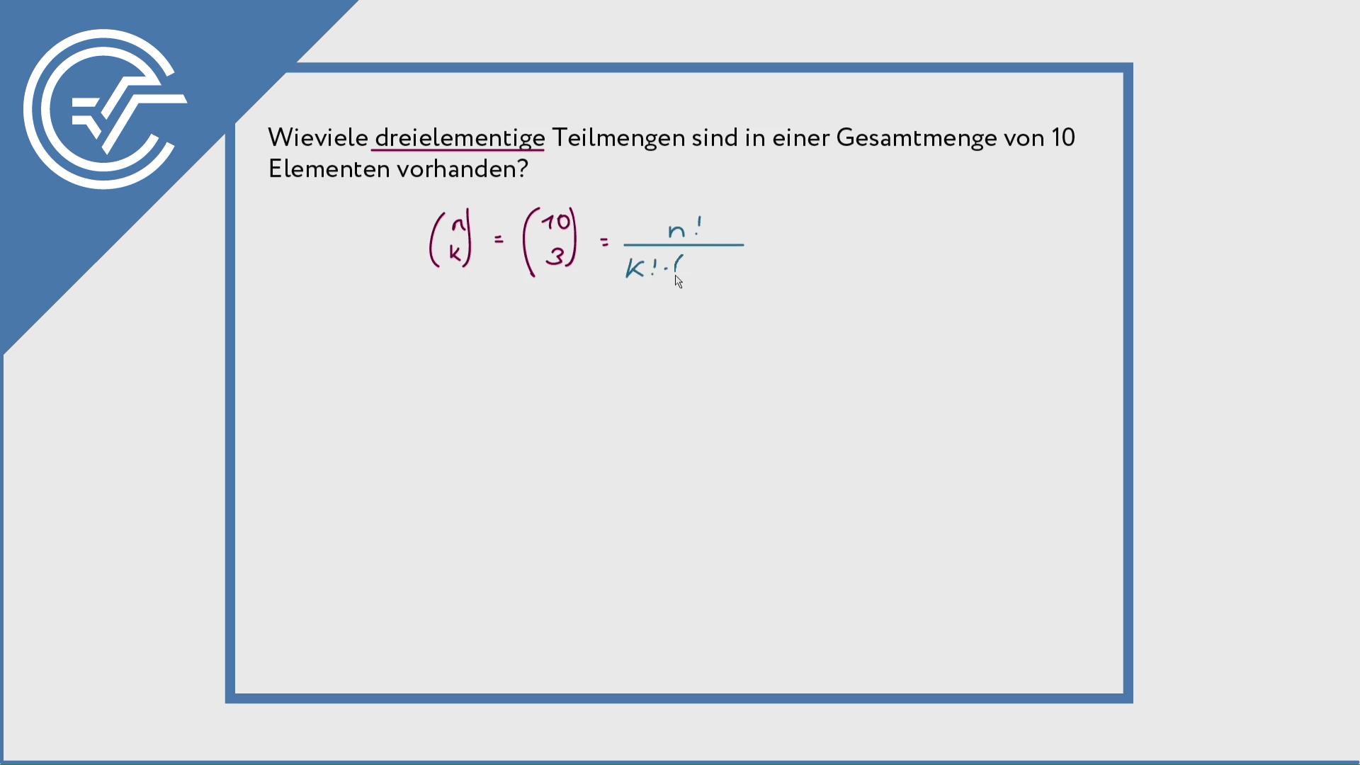 Binomialkoeffizient ermitteln 2