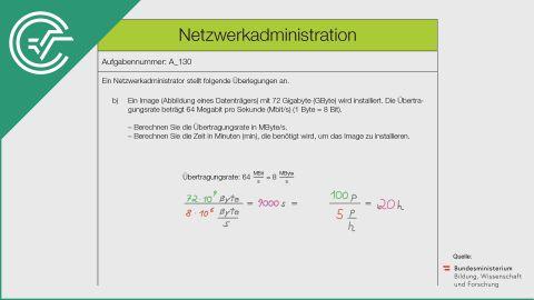 A_130 Netzwerkadministration b [Gleitkommadarstellung]