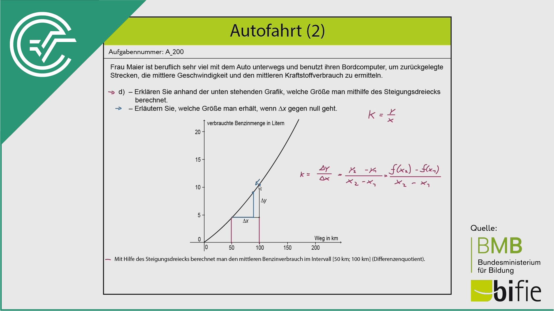 A_200 Autofahrt (2) d [Differenzen + Differentialquotient]