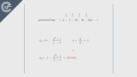 Summe einer endlichen geometrischen Folge