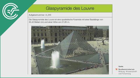 A_040 Glaspyramide des Louvre b [Formel aufstellen]