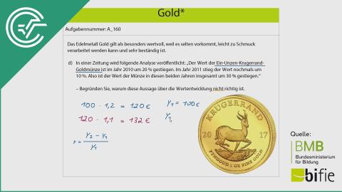 A_160 Gold* d [Prozentrechnung]