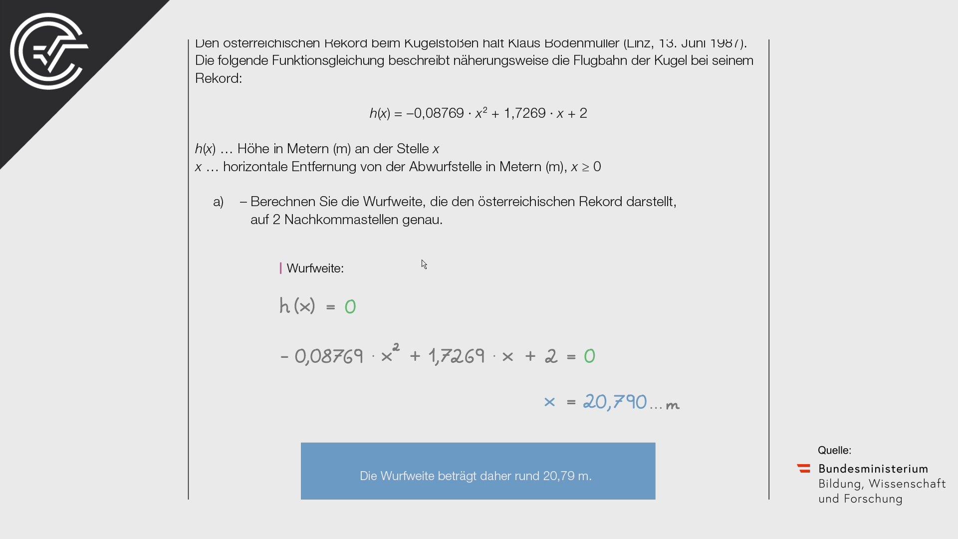 A_060 Kugelstoßen a [Quadratische Funktionen]