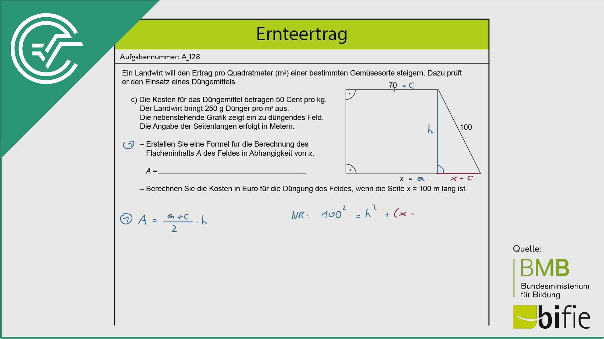 A_128 Ernteertrag c [Flächenberechnung]