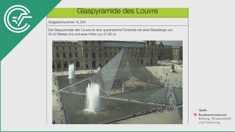 A_040 Glaspyramide des Louvre c [Formel aufstellen]