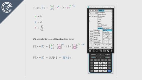 10. Binomialverteilung 1 [ClassPad II]